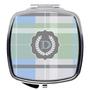 Compact Mirror- Light Blue Plaid