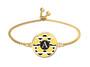 Lemon Stripes Slide Bracelet