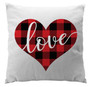 Pillows - Buffalo Plaid Heart White