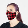 Face Mask - Initial Red Plaid