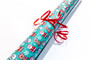 Wrapping Paper and Labels - Frosty Rudolph Santa