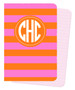 Mini Journals -Orange and Pink Rugby Stripes
