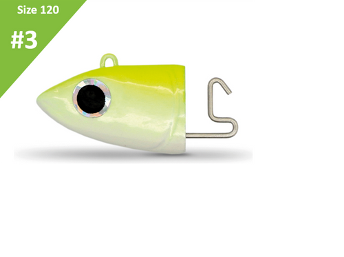 Fiiish Black Minnow Off Shore Jig Head Fluo Yellow 25g BM195