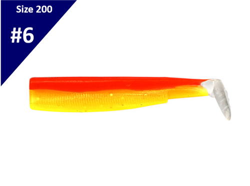 Fiiish Black Minnow 200 Body Rhubarb & Custard BM213