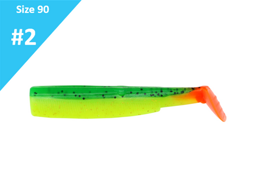 Fiiish Black Minnow 90 Green & Orange BM026