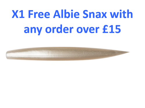 FREE Albie Snax 5 Inch 14g White Pearl