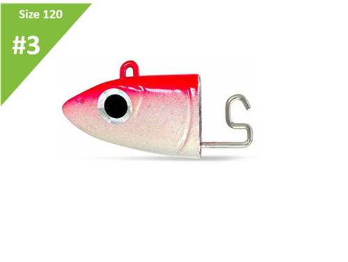 Fiiish Black Minnow Off Shore Jighead Red & White 25g BM870