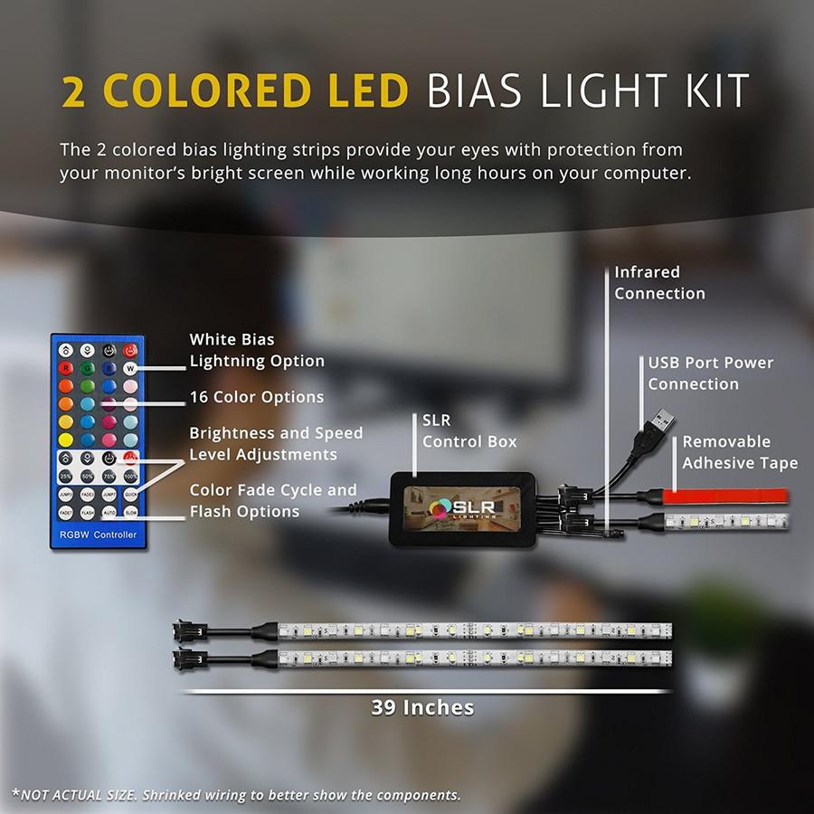 Height Adjustable Standing Desk for Laptops & Desktops with Colorful Bias Light