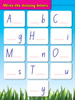 My First Alphabet eBook - Write the missing letter activity