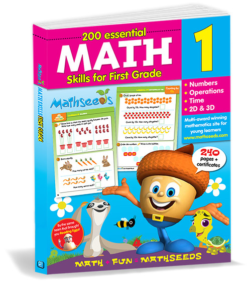 200 Essential Math skills for First Grade