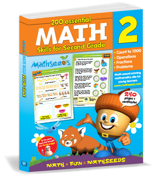 200 Essential Math skills for Second Grade