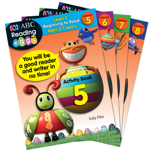 Reading Eggs -Level 2: Beginning to Read - Activity Book Set (Ages 5-7)