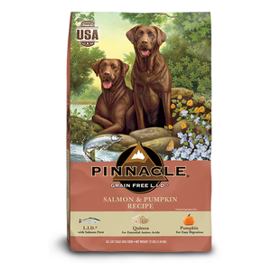 PINNACLE GRAIN FREE SALMON & PUMPKIN DRY DOG FOOD (4 LB)