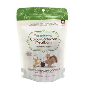 CocoTherapy Coco-Carnivore Turkey, Spinach & Coconut Meatballs