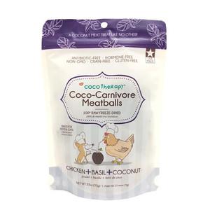 CocoTherapy Coco-Carnivore Chicken, Basil & Coconut Meatballs