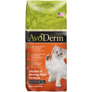 AvoDerm Natural Chicken & Herring Meal Kitten Dry Food (3.5 lb Bag)