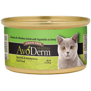 AvoDerm Grain Free Tuna & Chicken w/ Vegetables Wet Cat Food (3 0Z)