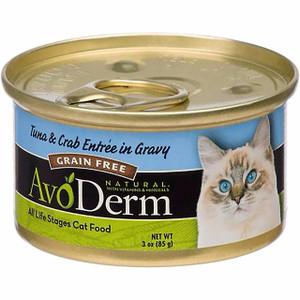 AvoDerm Grain Free Tuna & Crab Entree in Gravy Wet Cat Food (3 0Z)