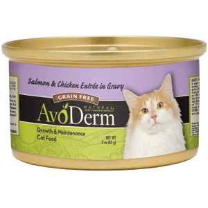 AvoDerm Grain Free Salmon & Chicken Entree in Gravy Wet Cat Food (3 0Z)