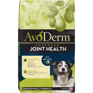 AvoDerm Joint Health Chicken Meal Formula Dry Dog Food (4 LB)