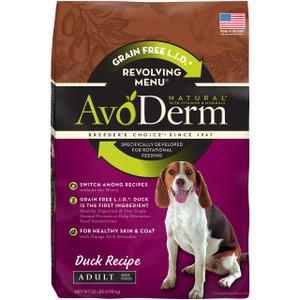 AvoDerm Grain Free Limited Ingredients Revolving Menu Duck Recipe  (4 LB)