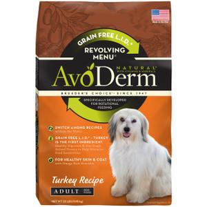 AvoDerm  Grain Free Natural Limited Ingredient Diet Revolving Menu Turkey (4lb)