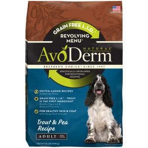 AvoDerm Grain Free Revolving Menu Trout & Pea Recipe (22 LB)
