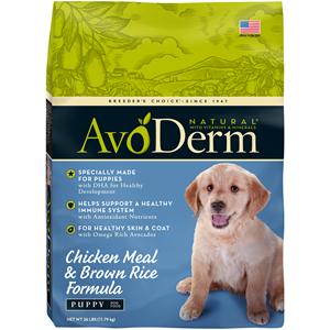 AvoDerm Puppy Chicken Meal & Brown Rice Formula (26 LB)