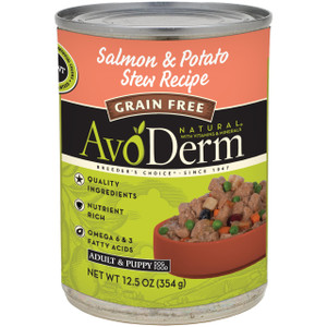 AvoDerm Grain Free Salmon & Potato Stew Recipe (12..5 OZ Can)