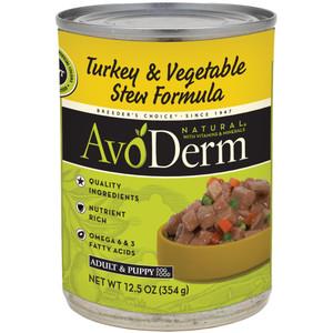 AvoDerm Grain Free Turkey & Vegetable Stew Recipe (12.5 OZ Can)