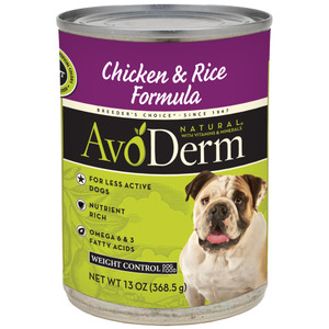 Avoderm Weight Control Chicken & Rice Formula (13 OZ Can)