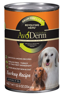 AvoDerm Grain Free Limited Ingredient Diet Revolving Menu Turkey Recipe (12.5 oz Can)