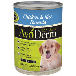 AvoDerm Puppy Chicken & Rice Formula (13 oz Can)
