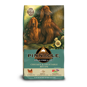 PINNACLE GRAIN FREE CHICKEN AND VEGETABLE DRY DOG FOOD (24 LB)