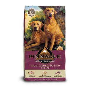 PINNACLE GRAIN FREE TROUT & SWEET POTATO DRY DOG FOOD (24 LB)