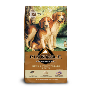 PINNACLE GRAIN FREE DUCK & SWEET POTATO DRY DOG FOOD (12 LB)