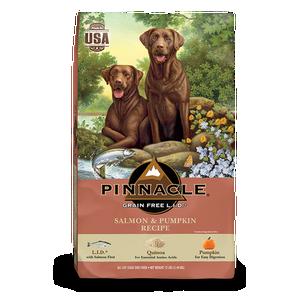 PINNACLE GRAIN FREE SALMON & PUMPKIN DRY DOG FOOD (12 LB)