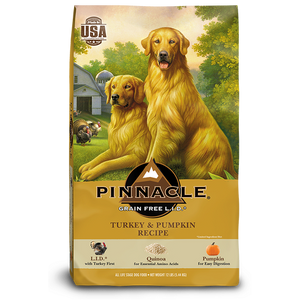 PINNACLE GRAIN FREE TURKEY & PUMPKIN DRY DOG FOOD (12 LB)