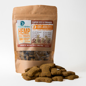 CannaBrina Hemp Joint & Mobility Dog Treats - 150mg CBD (5mg per treat, 30 count) - with Turmeric & Boswellia