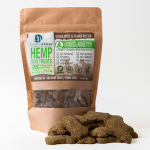 CannaBrina Hemp Stress & Anxiety Relief Dog Treats - 150mg  (5mg/treat, 30 count) - with Chamomile & L-Theanine