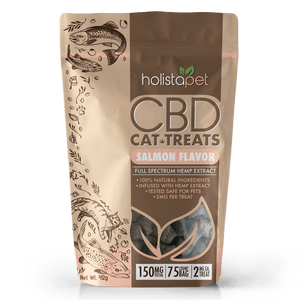 HolistaPet CBD Cat Treats - 150mg CBD (2mg per treat, 75 count)