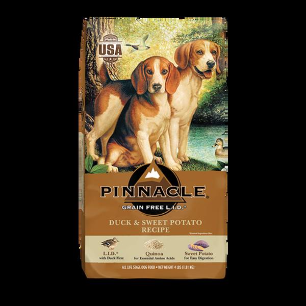 PINNACLE GRAIN FREE DUCK & SWEET POTATO DRY DOG FOOD (24 LB)