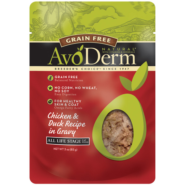 AvoDerm Grain Free Chicken & Duck Recipe In Gravy Wet Cat Food (3 OZ)