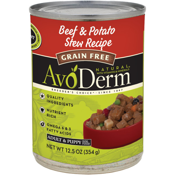 AvoDerm Grain Free Beef & Potato Stew Recipe (12.5 oz Can)