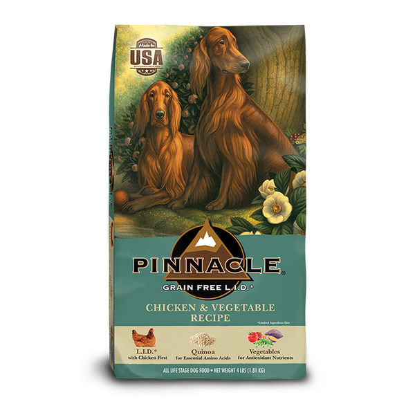 PINNACLE GRAIN FREE CHICKEN AND VEGETABLE DRY DOG FOOD (12 LB)