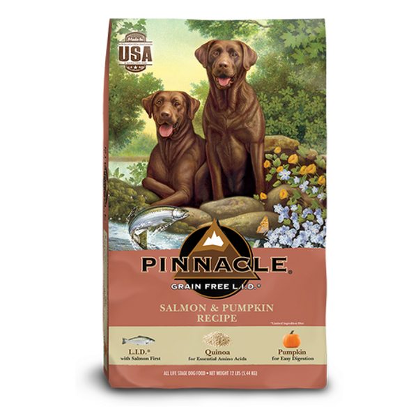 PINNACLE GRAIN FREE SALMON & PUMPKIN DRY DOG FOOD (12 LB)