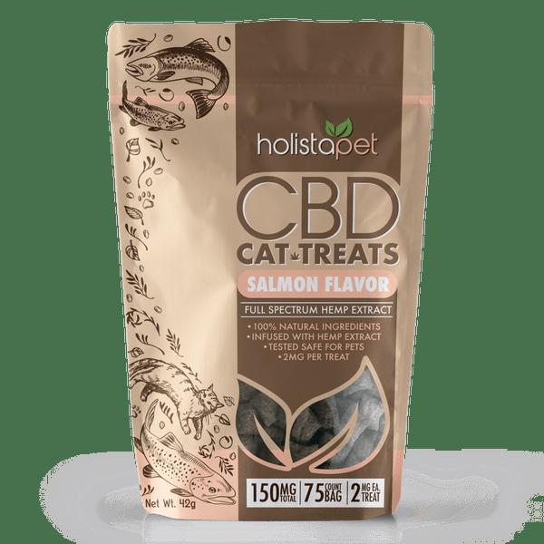 HolistaPet HEMP Cat Treats - 150mg HEMP (2mg per treat, 75 count)