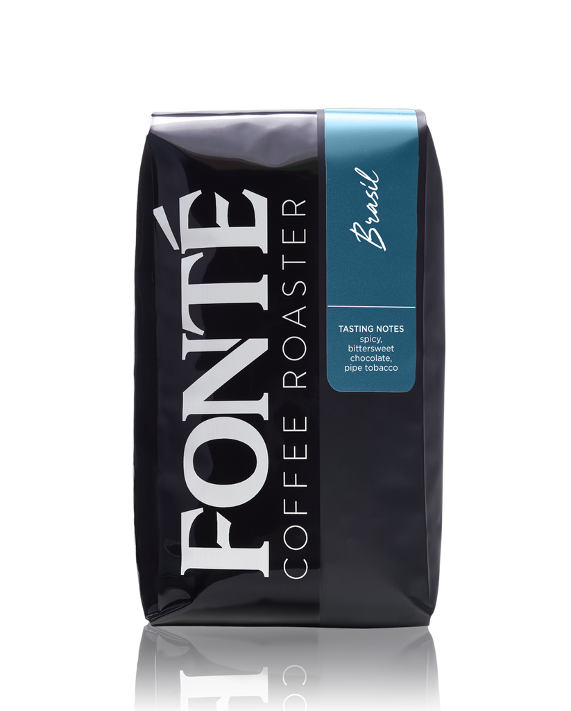 Buy Fonte Brasil Single Origin  Available as Whole Bean, French Press, Drip, Melitta, Home Espresso, Commercial Espresso, and Turkish Coffee for Weekly, Biweekly, Monthly or Bimonthly Subscriptions