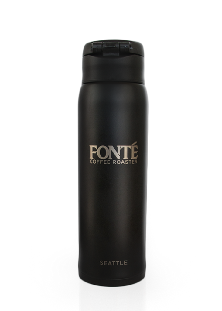 Buy Fonte Logo  16 oz Stainless Steel Zojirushi Thermos To Keep your Tea and Coffee Warm and Your Cold Brew Cold