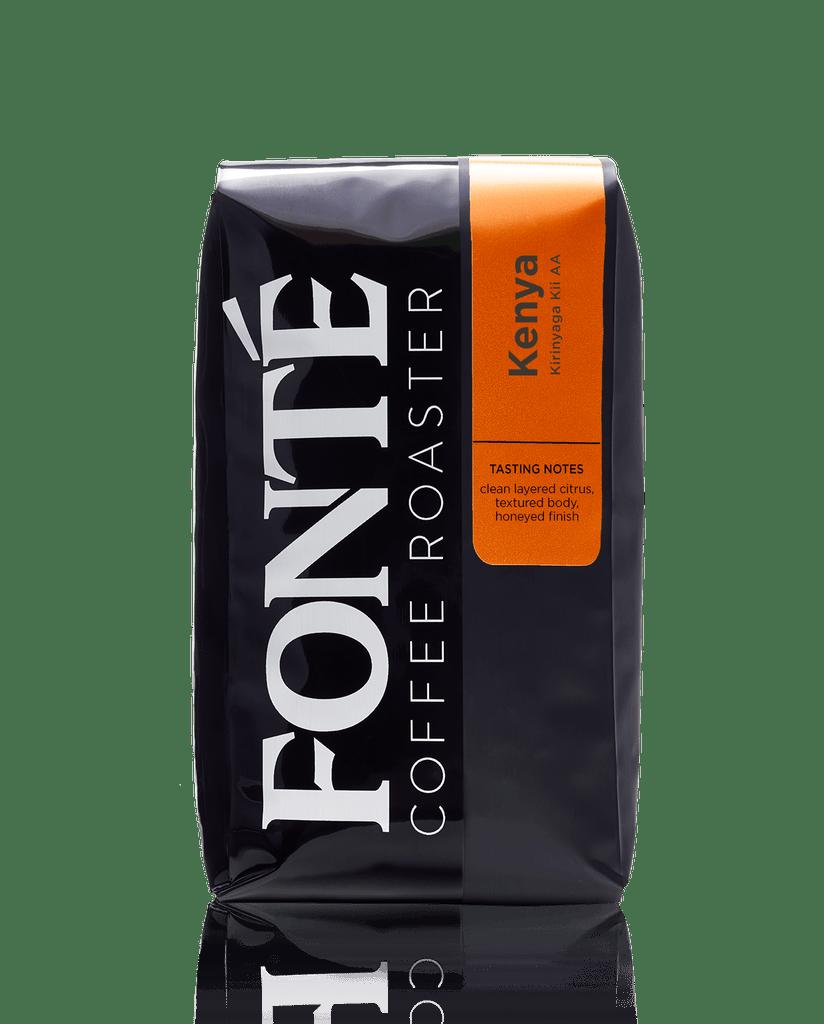 Kenya Kirinyaga Kii AA, Single Origin Coffee, Special Selection, Clean layered citrus, textured body, honeyed finish